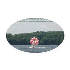Conquer Fear Oval Car Magnet