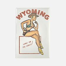 Wyoming Pinup Rectangle Magnet