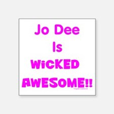 "JDMAwesome Square Sticker 3"" x 3"""