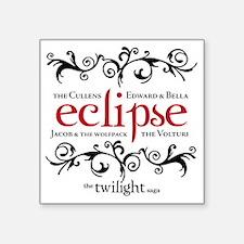 "Eclipse -Twilight Saga Flou Square Sticker 3"" x 3"""