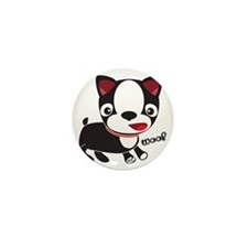 Choopie - Boston Terrier Puppy Mini Button