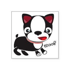 "Choopie - Boston Terrier Pu Square Sticker 3"" x 3"""