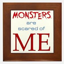 monsters-dark3 Framed Tile