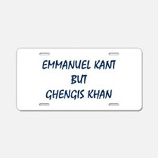 EMMANUEL KANT Aluminum License Plate