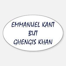 EMMANUEL KANT Sticker (Oval)