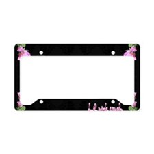Lil pink crush decadence2 License Plate Holder