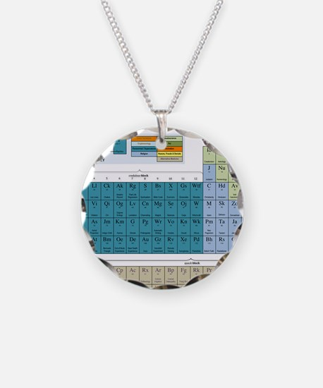 2-Periodic Table of Nonsense Necklace Circle Charm