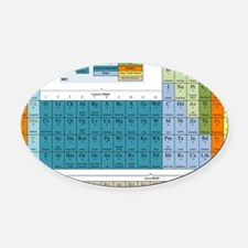 2-Periodic Table of Nonsense Poste Oval Car Magnet