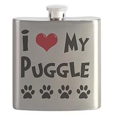 I-Love-My-Puggle Flask