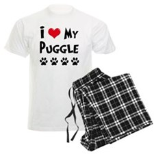 I-Love-My-Puggle Pajamas