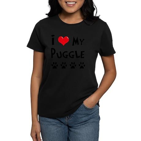 I-Love-My-Puggle Women's Dark T-Shirt