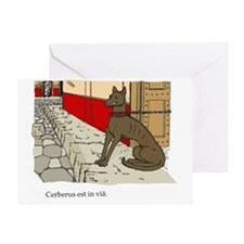 Cerberus colour Greeting Card
