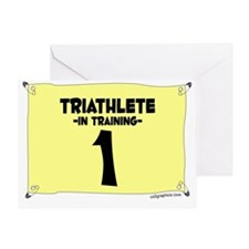 triathlete_train Greeting Card