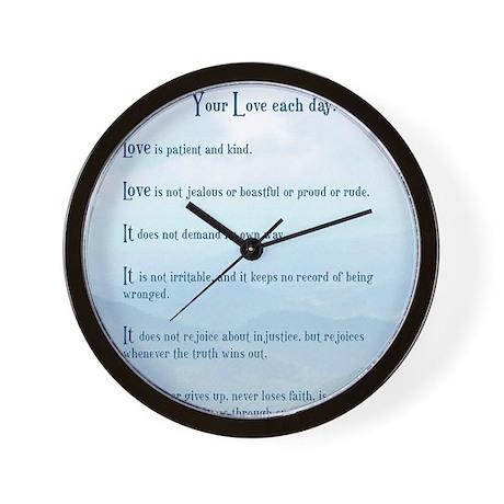 Love verse Wall Clock