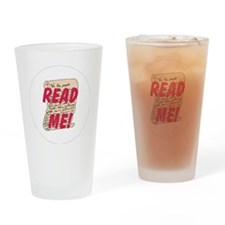 Read me Drinking Glass