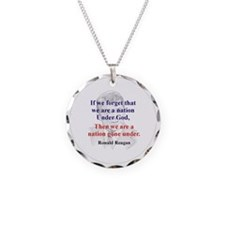 Reagan quote Necklace