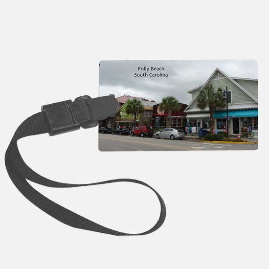 Folly Beach Strip Luggage Tag