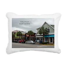Folly Beach Strip Rectangular Canvas Pillow