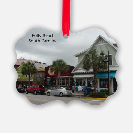 Folly Beach Strip Ornament