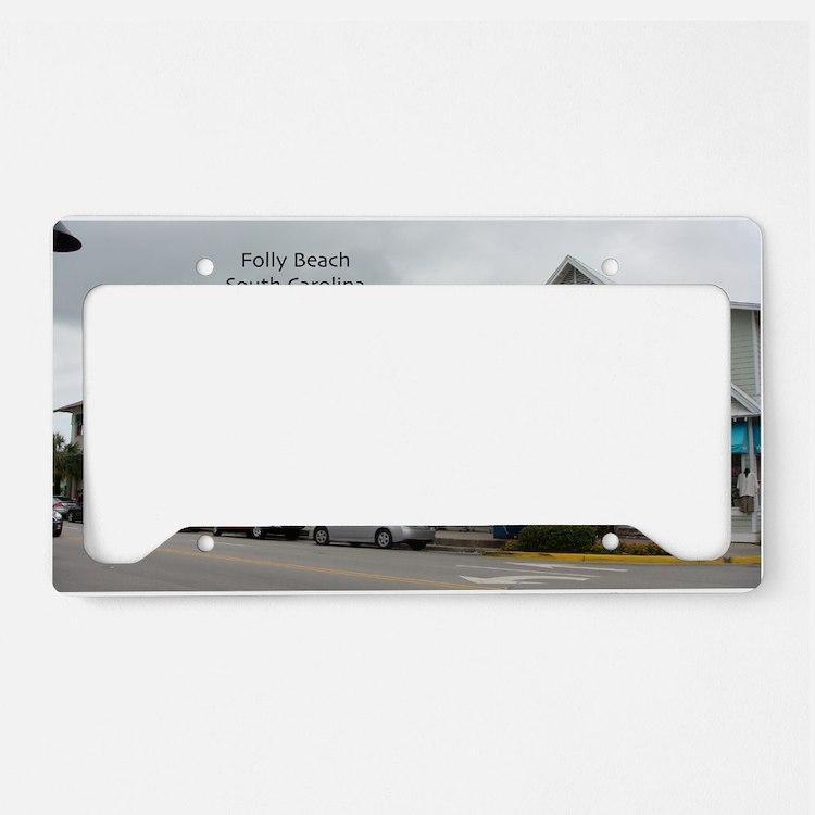 Folly Beach Strip License Plate Holder