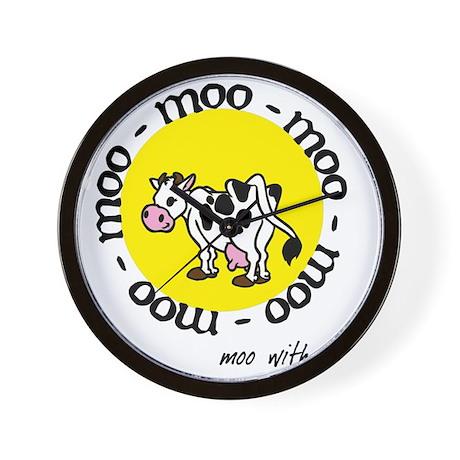 moo_with_me_moon Wall Clock