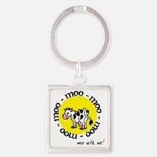 moo_with_me_moon Square Keychain
