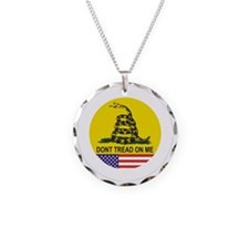 Dont tread on me Necklace Circle Charm