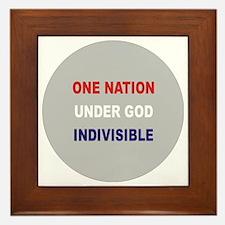 One Nation Under God Framed Tile