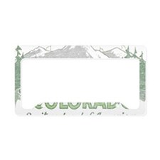 Vintage Colorado Mountains License Plate Holder