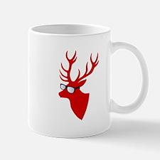 Christmas deer with nerd glasses Mugs