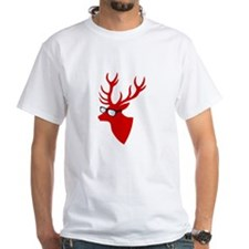Christmas deer with nerd glasses T-Shirt