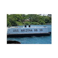 USS Arizona Rectangle Magnet