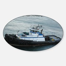 Tugboat Sticker (Oval)