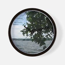 Tree Fishing Wall Clock