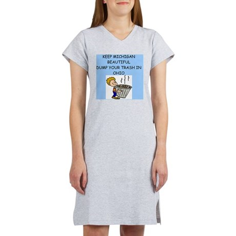 MICHIgAN. Women's Nightshirt