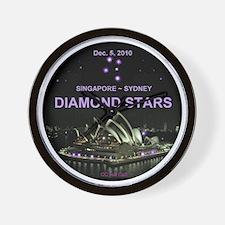 Diamond Stars -Dec. 5, 2010 Singapore - Wall Clock