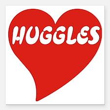 """Huggles dark Square Car Magnet 3"""" x 3"""""""
