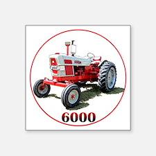 "Ford6000-C8trans Square Sticker 3"" x 3"""