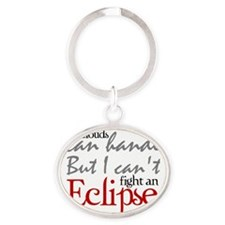 Eclipse Oval Keychain