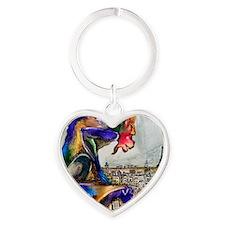 Gargoyle of Color Heart Keychain