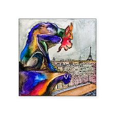 """Gargoyle of Color Square Sticker 3"""" x 3"""""""