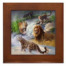 Big Cats Framed Tile
