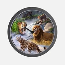 Big Cats Wall Clock
