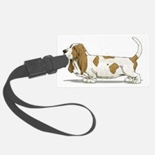 Basset-Hound-Watercolor Luggage Tag