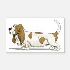 Basset-Hound-Watercolor Rectangle Car Magnet