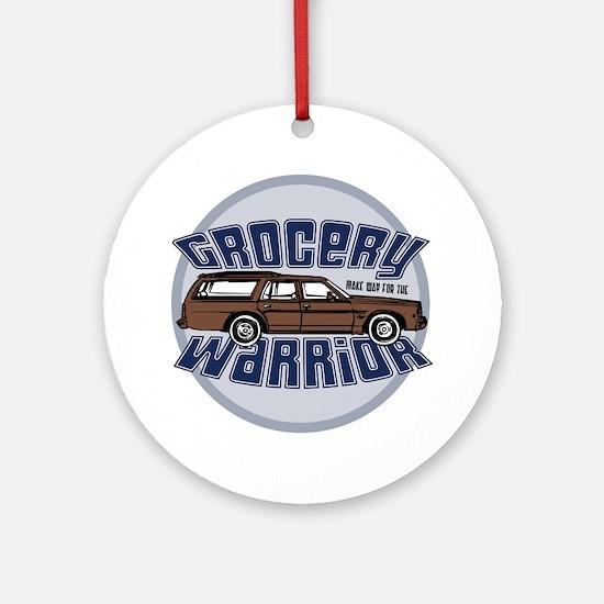 grocery warrior dk Round Ornament