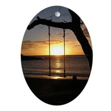 MolakaiSunset Oval Ornament