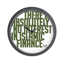 10x10 No Interest Green Wall Clock