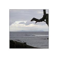 "Oahu from Molokai Square Sticker 3"" x 3"""
