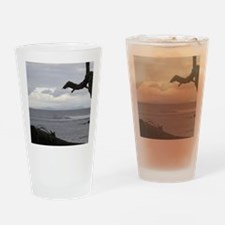 Oahu from Molokai Drinking Glass